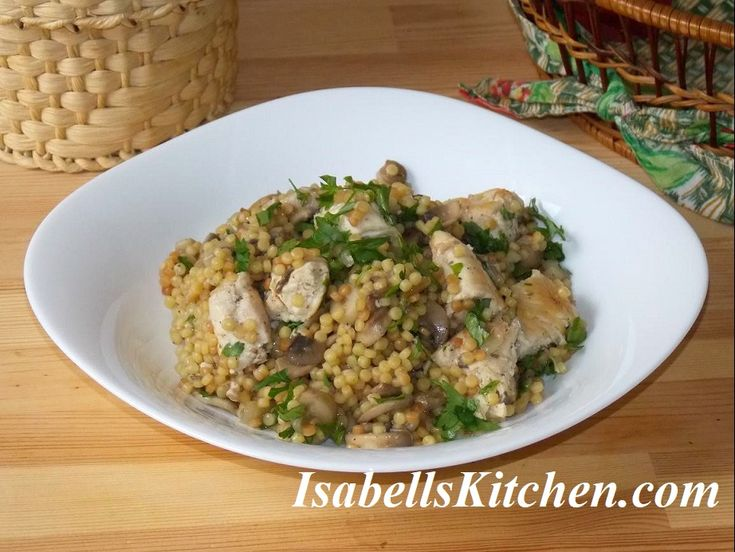 Couscous with mushrooms and chicken