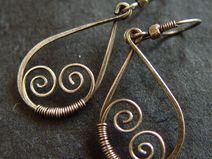 Zilveren oorbellen Curly Drops