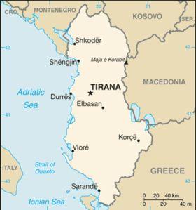 Albania-map ◆Albania - Wikipedia https://en.wikipedia.org/wiki/Albania #Albania