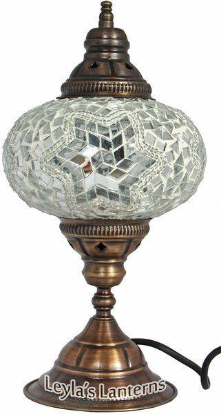 17 CM WHITE STAR MOSAIC TURKISH TABLE LAMP LIGHT LANTERN | Leylau0027s Lanterns  $45.00 + SHIPPING