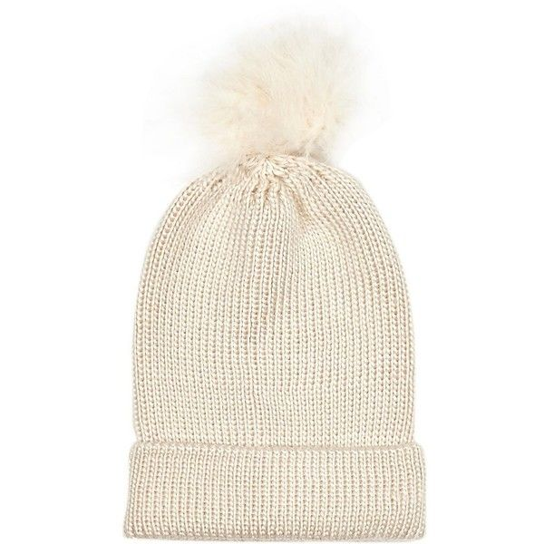 River Island Cream marabou feather beanie hat (115 EGP) ❤ liked on Polyvore featuring accessories, hats, sapka, cream, sale, bobble hats, beanie bobble hat, beanie caps, feather hat and beanie hat