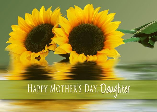 Mother Rsquo S Day Daughter Sunflowers And Their Reflections In Water Card Ad Spon Day Daughter Mothe Blank Cards Cards Personalized Greeting Cards