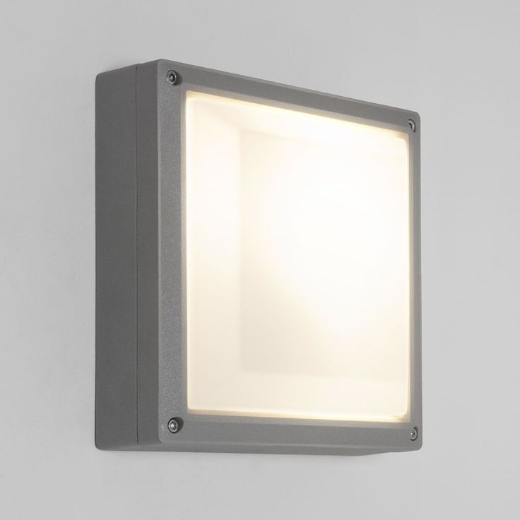 The Arta 210 Square 7119 From Astro Lighting Is A Modern On Trend Outdoor Wall Light Frame Has Painted Silver Finish And Fitted With