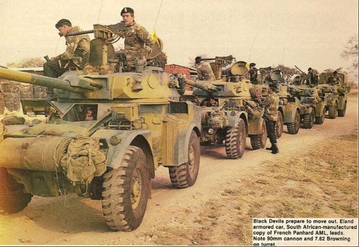 A Rhodesian Eland armored cars from South Africa.