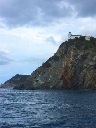 Punta polveraia lighthouse - North West Elba island