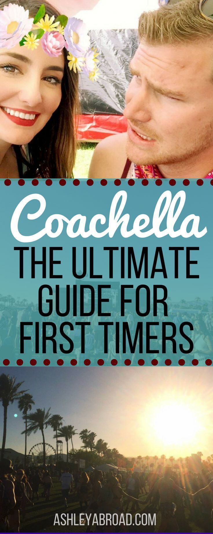 Coachella was one of the most fun weekends of my life, and it turned me into a full-blown festival addict. But there are a few things I would have done differently. To help you guys out with planning your first time to Coachella, I wanted to break down everything I navigated as a Coachella first timer: the festival layout, schedule, costs, and the emotional highs and lows. This is my Ultimate Guide  for First Timers to Coachella. | Ashley Abroad