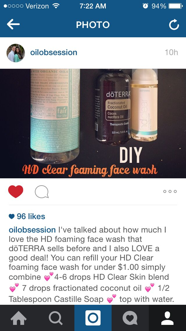 HD clear foaming face wash DIY