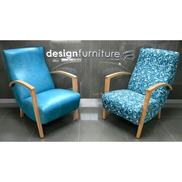 Feeling blue?  Check out our iconic Pelle chairs in Global Leather & Textiles' Space Spaceman and Warwick Fabrics' Twitter Jade