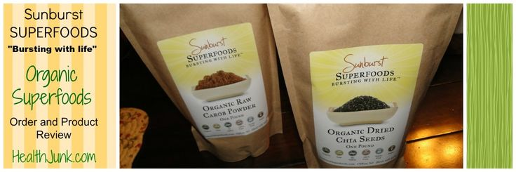 Sunburst Foods order and product review |