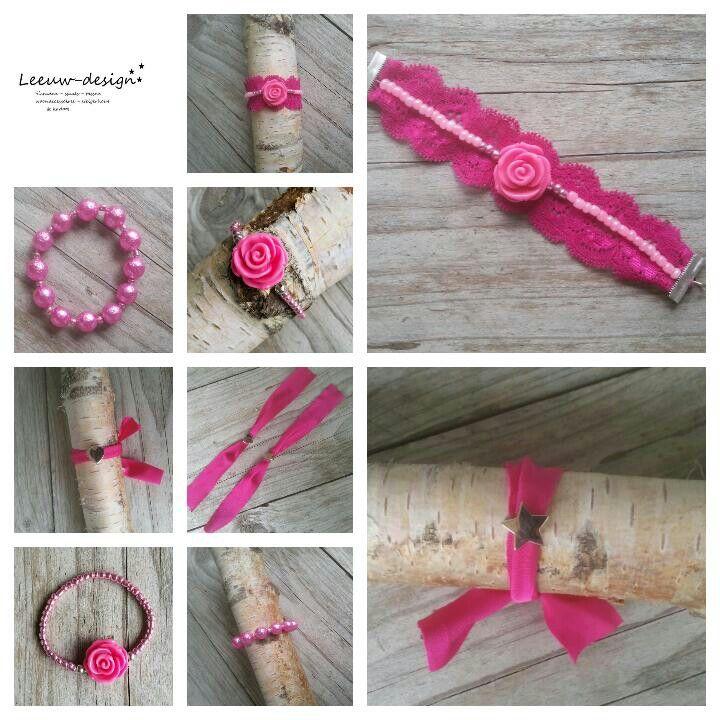 Roze # armbandjes #borstkanker #steun ook! Www.leeuw-design.nl
