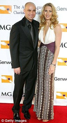 Tennis legends: Andre Agassi and his wife Steffi Graf.