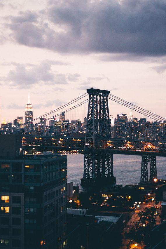 New York City just before dark