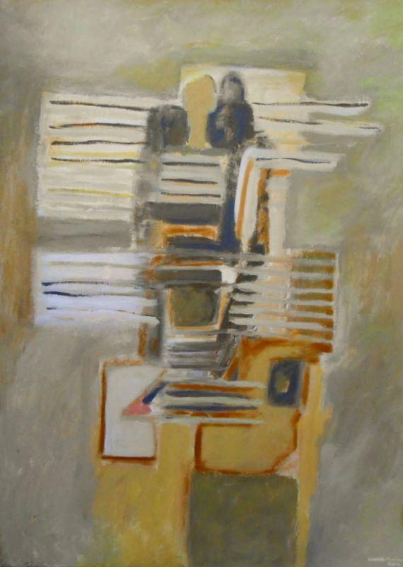 Acrílico sobre tela 80x60 by Laura Maria. Breakfast em Maspalomos, poema de Eugénio de Andrade