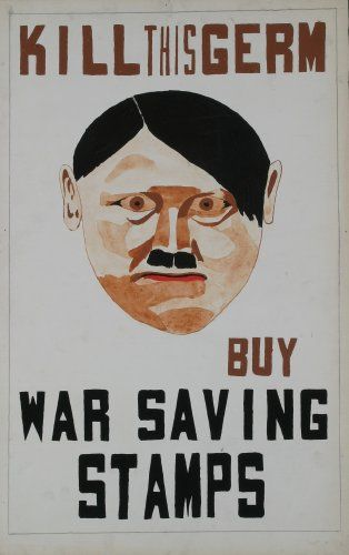 KILL THIS GERM, BUY WAR SAVING STAMPS #WWII #propaganda