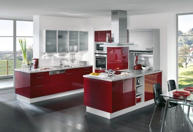 15 best burgundy gloss images on pinterest contemporary for Burgundy kitchen ideas