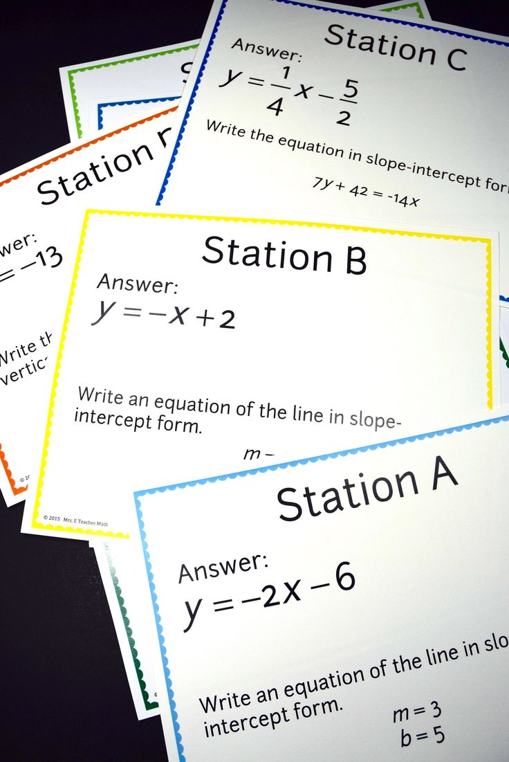 203 best math linear equationsslope images on pinterest slope intercept form of a line scavenger hunt falaconquin