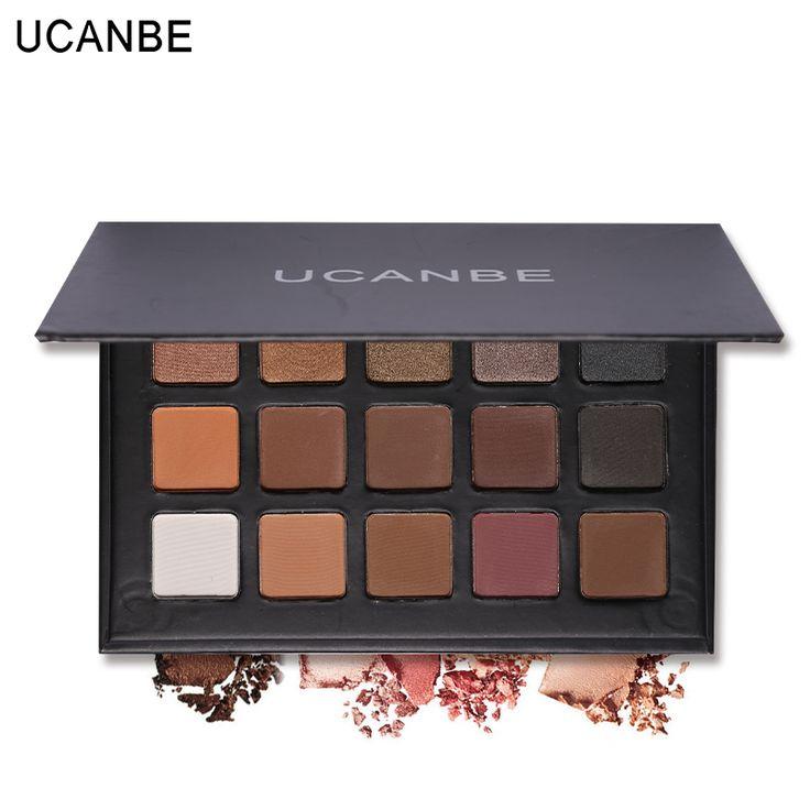 UCANBE Shimmer Matte Mode Mata Make Up Glitter Eyeshadow Pigmen Kosmetik Alami Set 15 Warna Mata Palet Makeup 1 PC