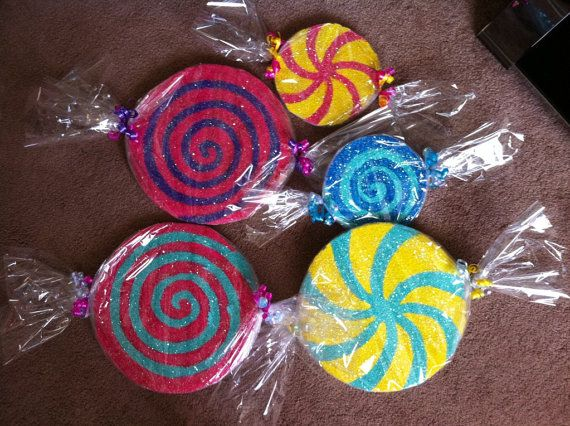 styrofoam candies decor. easily painted