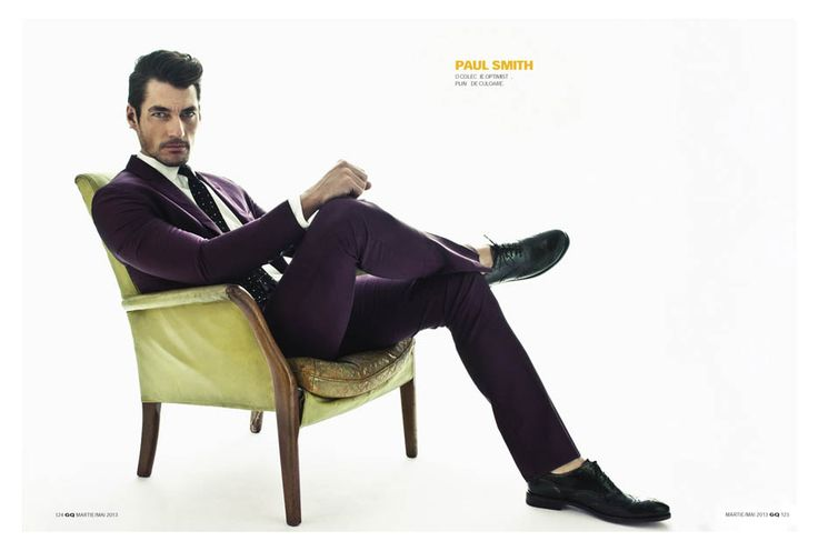 Supermodel David Gandy takes the cover story of GQ Romania photographed by Arcin Sagdic featuring styling by Ovidiu Buta and Sylvester Yiu.