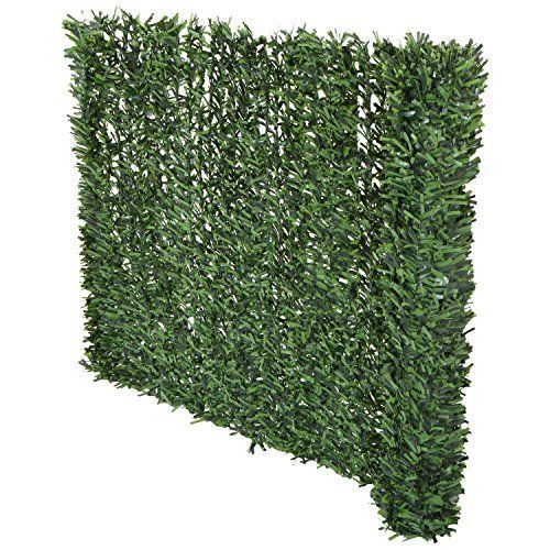 Synturfmats Artificial Hedge Slats Panels for Chain Link Fencing Outdoor Faux Hedge Privacy Screen Fence > This artificial hedge slats panel is designed for adding exceptional privacy to your chain link fencing. Much Easier to install. The slats are connected in a panel with wires, YOU DO NOT NEED TO INSERT THE SLATS ONE BY ONE. Can attach to any chain link fence easily. UV protected against weather wear & tear and fading. Long lasting, 5 years Warranty.