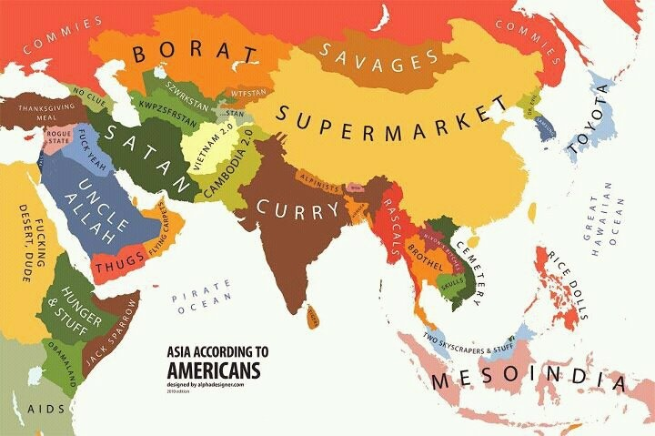 Asia according to Americans