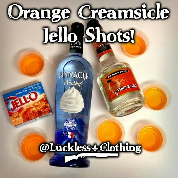 Orange creamsicle jello shot!  Yum