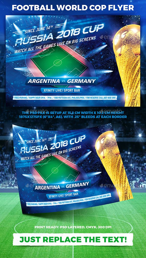 Football World Cop Flyer Vol 2 Sports Events Sport Flyers