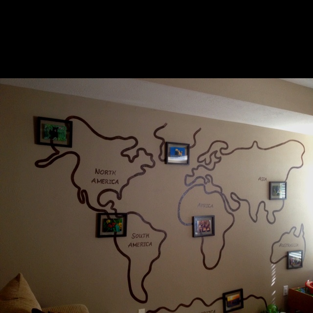 40 best wall of world map images on pinterest world maps good world map in kids playroom i one day would love to have framed gumiabroncs Gallery