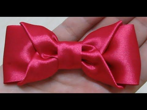 Laço Boutique Invertido - Laço de Fita de Cetim - Twisted Boutique Bow - YouTube