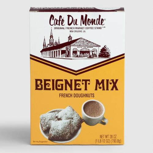 Cafe du Monde Beignet Mix - I use this mix to make my beignets, and they turn out delicious every time. Just add water to the mix - very easy!