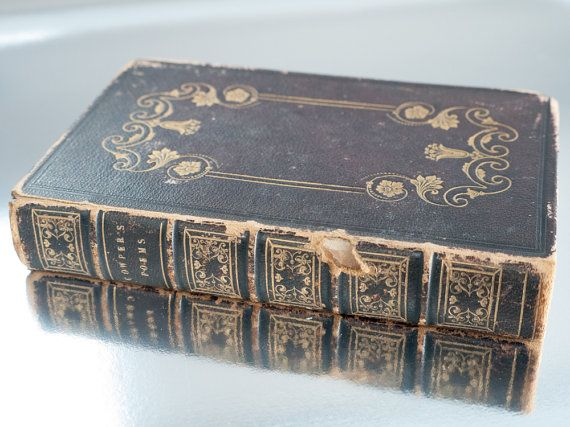 Vintage English poetry book 'Cowpers Poems' 1846 by freshdarling