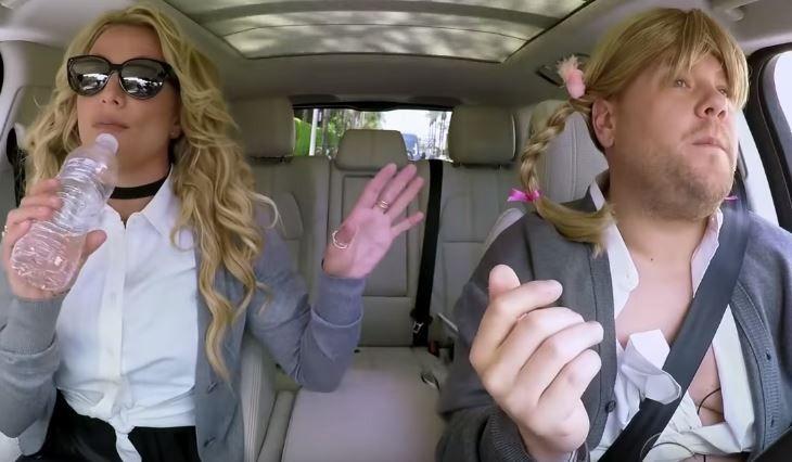El incómodo carpool karaoke de Britney Spears y James Corden | El Puntero