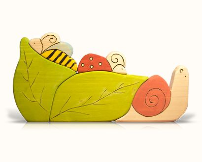 puzzle toys - wooden leaves