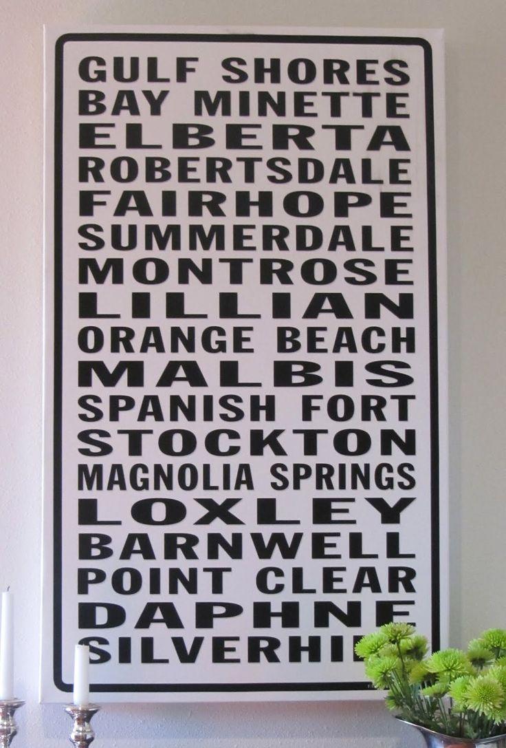 Alabama baldwin county stockton - Baldwin County Subway Sign Fairhope Supply Co