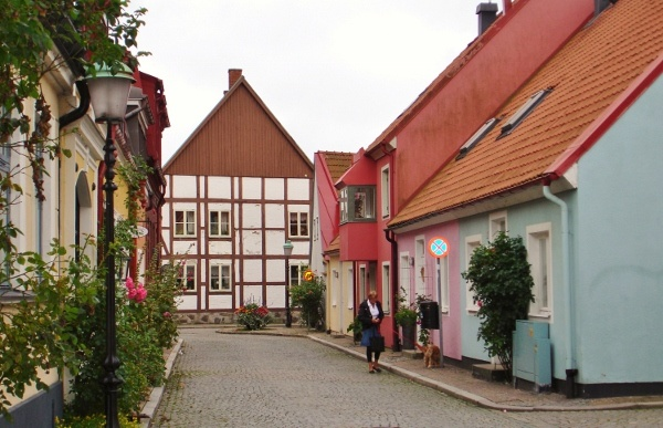 Quirky cottages in Ystad (Wallander town), Skane, Sweden