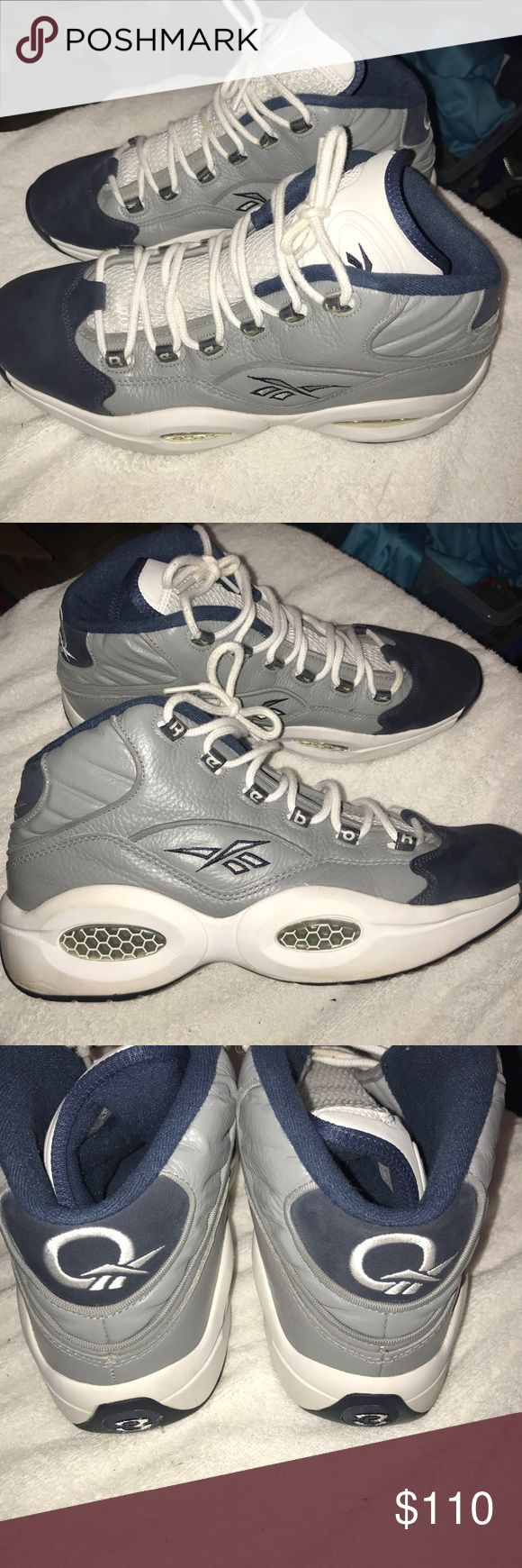 Reebok Answer Georgetowns Allen Iverson's signature Reebok Answer shoe in the Georgetown colorway. Men's size 12. Really good condition. No major flaws, very light use. Any questions feel free to ask. Reebok Shoes Sneakers