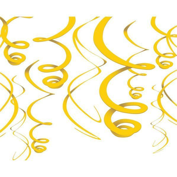 Check out Yellow Plastic 22 Hanging Decorations - Reduced New Year's Accessories from Wholesale Party Supplies