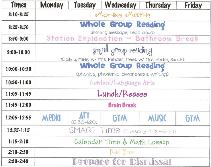 8 best All Day Kinder Schedules images on Pinterest Kindergarten