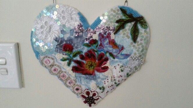Beaded sequin heart