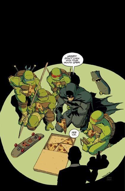 Batman/ TMNT variant cover by Nick Dragotta