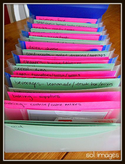 Coupon sorting ideas