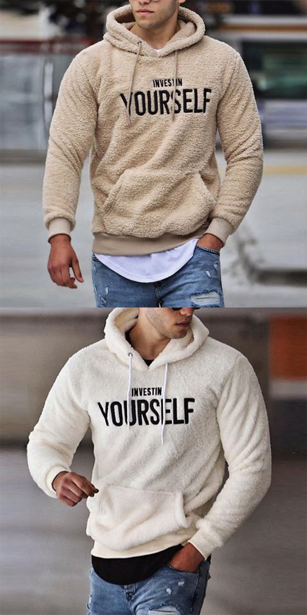 Men's Casual Fluff Letter Hooded Sweatshirt #dailydressme Product ID SP5PAOSG066 Brand name Bigentman Gender Male Season Autumn,Winter Material Polyester Pattern type Embroidery Sleeve Length Long sleeve Style Cewebrity Top collar Wearing a collar Dress occasion Daily Size S M L XL 2XL 3XL Bust (inch) 38.6 40.2 41.7 43.3 44.9 46.5 Length (inch) 26.8 27.6 28.3 29.1 29.9 30.7 Shoulder width (inch) 16.5 17.3 18.1 18.9 19.7 20.5 Bust (cm) 98 102 106 110 114 118 Length (cm) 68 70 72 74 76 78 Should