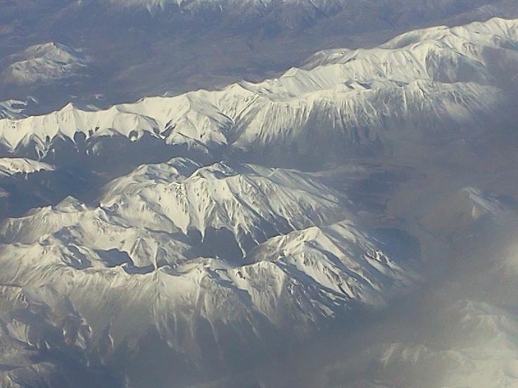 Southern Alps from the pane