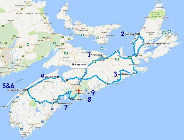 Itinéraire road-trip en Nouvelle-Écosse en 10 jours