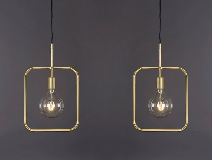 Woonvondst: industriële gouden hanglamp