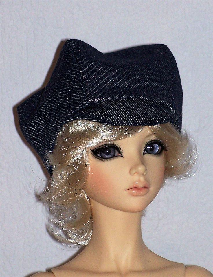 Casquette gavroche en jean/ metaalic jeans cap