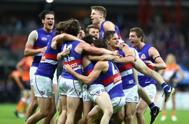 The Western Bulldogs won a nailbiting match over the Western Sydney Giants to make their first AFL (that's the Australian Football League) grand final in 55 years on Saturday night, which is very nice for them. | Chris Hemsworth's Football Team Won An Important Game And Hoo Boy