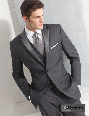 Charcoal Grey Ike Behar Slim Fit