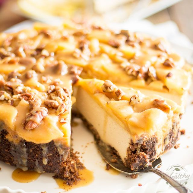 Maple Caramel and Apple Cheesecake