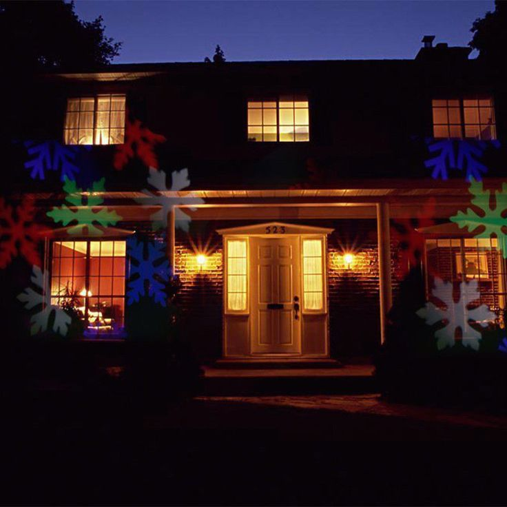 Merry Christmas Lights Outdoor LED Snowflake - BEST FOR HOME